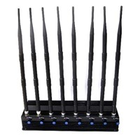 Adjustable 8 Antennas GPS/ WiFi/ VHF/ UHF/4G Cell Phone Jammer