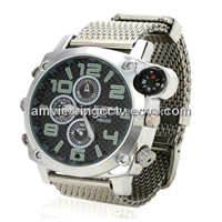 1080p Megapixel HD Waterproof Wrist Watch Camera with Compass,Support Voice Recording Separately