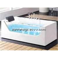 Hot sale portable freestanding glass bathtub price