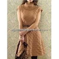 Knitted Wear Vest Dress Skrit Princess Sweater Skirt Woolen Chemise