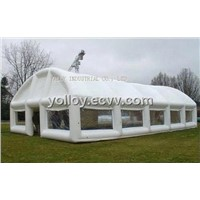 Large Air Tight Party Tube Tent Inflatable Recycled Removable Clear & White Tent by PVC Tarps & PVC