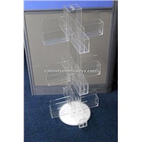 Rotating Gift Cards Stand Acrylic Greeting Card Display-12 Pockets
