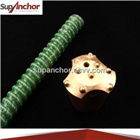SupAnchor tunnelling and mining roof support Self-Drilling fiberglass hollow rock anchor bolt