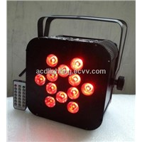 12*15W 6IN1 RGBWA+UV IR Wireless Remote Control LED Par Light, Wireless DMX LED Flat Par