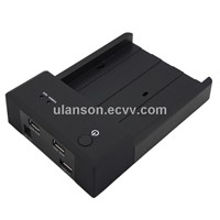 "2.5""/3.5"" Horizontal USB3.0  SATA3.0 HDD Docking+USB2.0 HUB Charger for Phone or iPad"