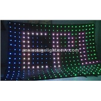 2m x 3m led vision curtain/led video curtain/led backdrop/dj lighting