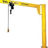 360 degree rotating 5 ton column mounted jib crane with electric hoist