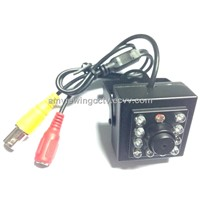 550TVL Hi Resolution Low Lux Small Night Vision Camera,10pcs IR Leds,With Flat Cone Pinhole Lens