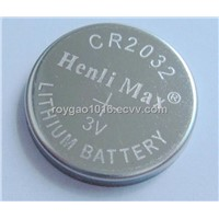 CR2032 lithium coin cell, button cell, lithium battery