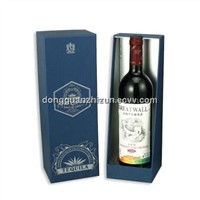 Cardboard & Coated Paper Wine Box with Lid and Bottom Type