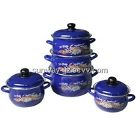 Casserole with enamel handle deep&Deco