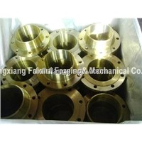 Copper welding neck flanges
