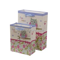 Custom printing promotional paper gift bag wholesale
