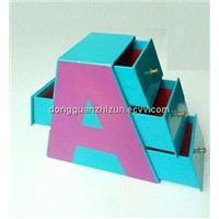 Decorative Cardboard Drawer Storage Boxes