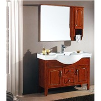 European and classical solid wood bathroom cabinet,red wood bathroom cabinet model:201365