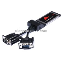 Expresscard to RS-232 Serial 2-PORT for Laptop