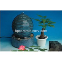 Fancy Glazed Ball Shape Ceramic Table Fountain