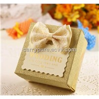 Gold Paper Confection Box, Suitable for Wedding