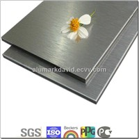 Hairlined(Brushed) Aluminum Composite Board/sheet/Panel