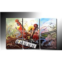 Handmade Oil Painting Music On Canvas Wall Art For Home Decoration