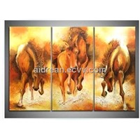 High Quality Pure Handpainted Animal Oil Painting For Wall Decoration