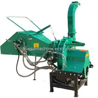 Hydraulic feed 8 inch pto wood chipper shredder
