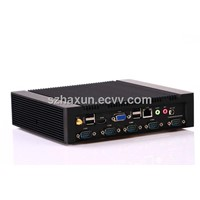 Intel Dual core Mini PC Celeron 1037U Fanless Computing with Windows XP,WIFI,2 RJ45,RS232,RS485,BT