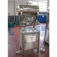 Isobaric pressure filling machine with double heads