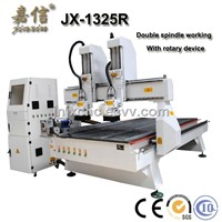 JX-1325R JIAXIN 4 Axis Wood CNC Machine with double head