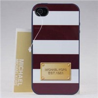 Kenzo iPhone 5S Case with striping desgin-white and brown