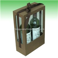 Luxury Wine Box with a Ribbon
