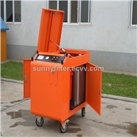 Movable oil purifier with an oil box