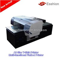 8 colors A2 size Direct To Garment T-shirt printer /digital inkjet flatbed printer