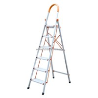 NEW MODEL D Type pipe aluminium household ladder 6steps WG604-6A