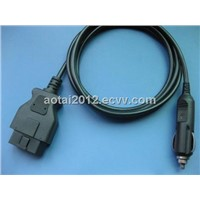 OBD to cigar cable,auto cable,16Pin male to cigarette lighter cable