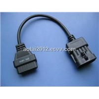 OPEL 10 Pin Cable,OBD 16 pin to OPEL 10 pin cable,auto diagnostic cable