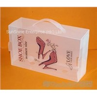 plastic PP household shoe package box