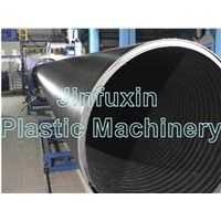 Plastic Huge Diameter Hollowness Wall Spiral Pipe Machine