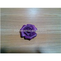 Purple Ceramic Flower, Artificial Flower