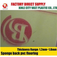 Sponge Backed PVC roll floor covering