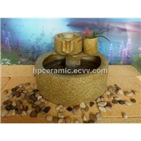 Stone Mill Shape Ceramic Table Fountain