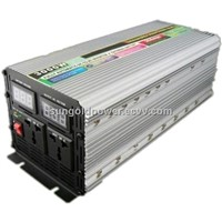 Sun Gold Power 3000W Peak 6000W DC 12V/24V Modified Wave Power Inverter With Charger Voltage Display