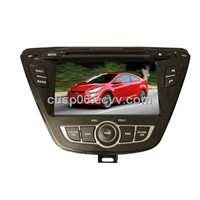 The best android car DVD player video audio radio with GPS navigation for HYUNDAI ELANTRA 2014-