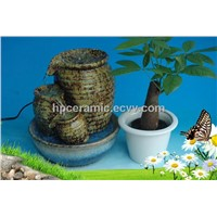 Three Pots Ceramic Tabletop Fountain