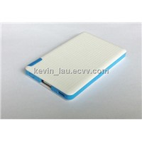 Ultra-thin 2400 mAh portable power bank for the mobile phone and tablet PC