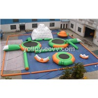 Water Fun Park Inflatable Water Toy Seesaw Iceberg Slide Trampoline Floating Rods Bags