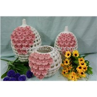 Woven Porcelain Decorative Table Vase