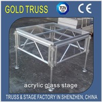 Acrylic Stage 1.22x1.22m ,1.22x2.44m Assembly Stage for Concert, t Show Stage,Organic Glass Stage