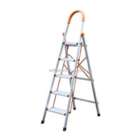 aluminium household ladder 5steps D Type pipe WG604-5A NEW MODLE