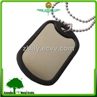 aluminum/steel blank dog tag